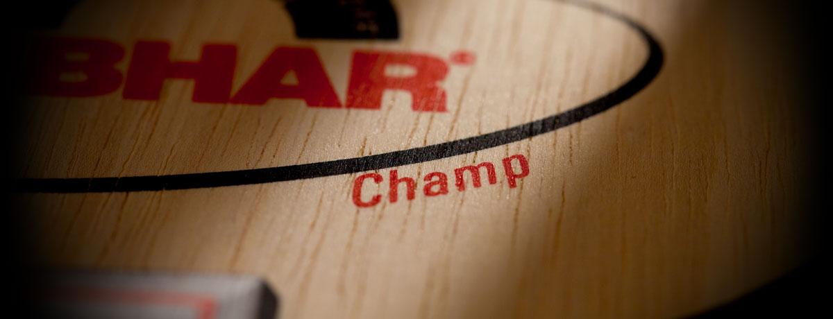 Tibhar Champ asztalitenisz-ütőfa nagyított képe
