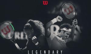 A Wilson legendás versenyzői: Serena Williams és Roger Federer