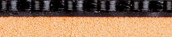 Tibhar Grass Ultra asztalitenisz-borítás keresztmetszeti képe