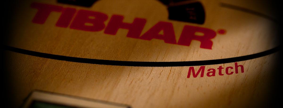 Tibhar Match asztalitenisz-ütőfa nagyított képe