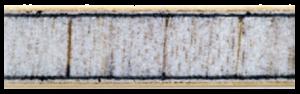 Gewo Balsa Carbon 375 ütőfa keresztmetszeti képe